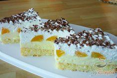 Florida szelet | TopReceptek.hu Breakfast Bundt Cake, Baking Recipes, Cake Recipes, Homemade White Cakes, Easy Brunch Recipes, Moist Cakes, Pumpkin Dessert, Food Cakes, Vanilla Cake