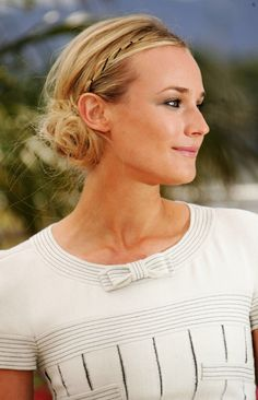 Diane Kruger, 2007 We love a fancy hair accessory, but leave it to Diane Kruger to make run-of-the-mill bobby pins look insanely chic by accenting a thin, loose braid with evenly spaced-out black bobbies. Kruger's messy bun strikes the perfect balance between ethereal and edgy.