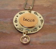 Hand Stamped Jewelry Personalized necklace  by BeeBaublesJewelry, $25.00