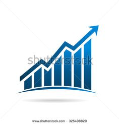 Finance graphic up rising logo