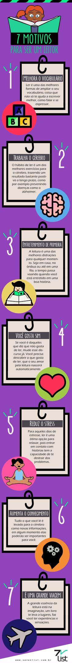 Infográfico - Livros/ ler/ leitura.