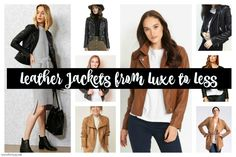 Leather Jackets from Luxe to Less by Forty Up