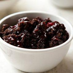 Slow Cooker Cherry Dump Brownies