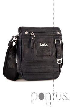 Bolsa tiracolo Lois legend 44316 16x20x5cm preta | JB