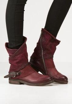 A.S.98 - Cowboy/Biker boots - amaranto/testa di moro