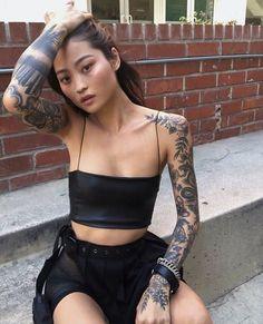 Boy Tattoos, Life Tattoos, Body Art Tattoos, Z Tattoo, Tattoo Pain, Hot Tattoo Girls, Tattoo People, Beautiful Japanese Girl, Asian Style