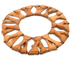 Africa | Collar necklace ~ ubèn ~ from the Diola people of the Edioungo region of Senegal.  Vegetable fiber | 20th century