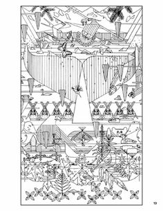 Charley Harper: 50 Drawings Coloring Book
