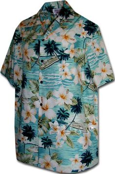 John Mens Hawaiian Shirts Hawaiian Shirt Hawaiian Clothing Aloha Shirt 410 3642 Aqua | eBay