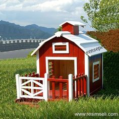 Image detail for -Dog-house plan pictures Build A Dog House, Dog House Plans, House Dog, Goat House, Farm House, Cabin Plans, Cool Dog Houses, Play Houses, Pets
