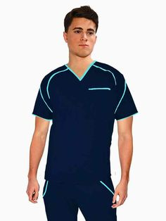 IMG-PRODUCT Cute Scrubs Uniform, Scrubs Outfit, Men In Uniform, Cleaning Uniform, Medical Uniforms, Medical Scrubs, Le Chef, Scrub Pants, Blouse