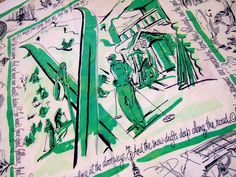RARE Dartmouth College Silk Scarf 1949 by MeadowviewVintage -- Love the vintage college scarves, too.