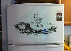 Рисунки маркером на холодильнике / Кухня / Модный сайт о стильной переделке одежды и интерьера