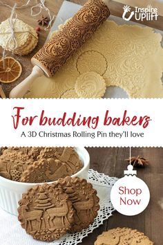 MagicBackroll® - The wonderful Christmas rolling pin 😍 - Patisserie - Banana Pudding 3d Christmas, Christmas Brunch, Christmas Gift For You, Perfect Christmas Gifts, Christmas Baking, Christmas Cookies, Galletas Cookies, No Bake Cookies, Baking Cookies