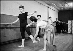 James Dean attending a dance class with Katherine Dunham.New York, 1955.