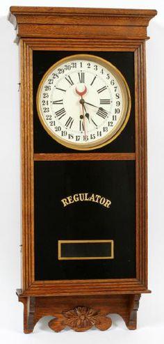 WATERBURY CALENDAR WALL REGULATOR CLOCK
