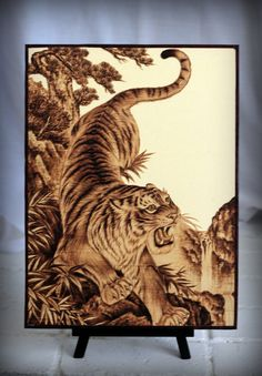 In Asia cultures, the tiger is considered the king of all beasts and represents powerful energy. Further, the tiger is associated with Tsai Shen Yeh, the God of Wealth, who usually appears on a tiger in Asian art.