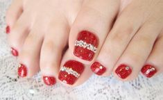 40 Best Christmas Toe Nail Art Designs Images On Pinterest Xmas