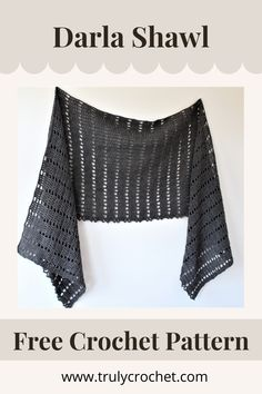 An easy crochet shawl project that is perfect for all year round, this is the Crochet Darla Shawl this is a free crochet pattern for beginners. Prayer Shawl Crochet Pattern, Poncho Au Crochet, Crochet Prayer Shawls, Crochet Poncho Patterns, Crochet Shawls And Wraps, Crochet Scarves, Crochet Clothes, Free Crochet, Easy Crochet