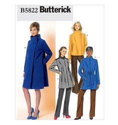 Butterick 5822 Coat - purple wool meltn