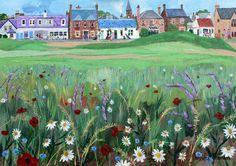 Jennifer Thomson  - Artist 19th Hole Pub off Elie Golf Course at Earlsferry.