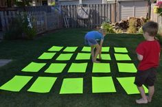 Tutorial: Oversized Memory Game Take this classic game outside and get some fresh air and exercise with the kids