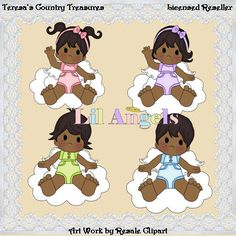 African American Angels #Clipart