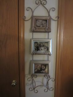 Use a plate rack as a picture holder! I spray painted some cheap thrift store & Néw use for plate holders. | Good quotes | Pinterest | Plate holder ...