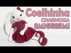 Charming Bunny Amigurumi Part 1 - - Doll Sewing Patterns, Doll Dress Patterns, Knitting Patterns Free, Free Pattern, Crochet Bunny, Crochet Dolls, Youtube Dolls, Easy Crochet Shrug, Tutorials