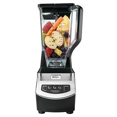 Ninja Black Pulse Control Blender at Lowe's. The Ninja® professional blender features a sleek design and outstanding performance with 900 W of professional power. Its total crushing® Fruit Blender, Ninja Blender, Ninja Professional Blender, Professional Kitchen, Pineapple Smoothie Recipes, Blender Models, Web Design, Email Design, Best Blenders