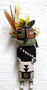 Hopi-Carved-9-25-Old-Style-Bean-Kachina-Doll-Sculpture-by-Brian-Holmes