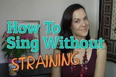 Two exercises to help you sing without straining and remove your vocal tension for good.Perfect for belting or if you get a sore throat after singing.