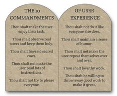 The 10 commandments of User Experience