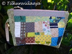 """Autumn Harvest"" / Syyssatoa -- scrappy zipperpouch by Tilkunviilaaja. The other side!"