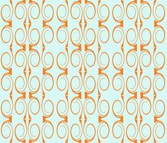 tourbillon_vermillon fabric by mimix on Spoonflower - custom fabric Custom Fabric, Spoonflower, Fabric Design, Prints, Printed, Art Print