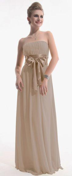 neutral tone chiffon bridesmaid dress