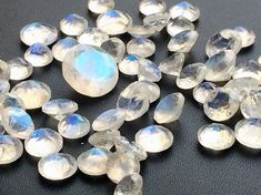1 Pc 7mm Rainbow Moonstone Faceted Round Cut by gemsforjewels