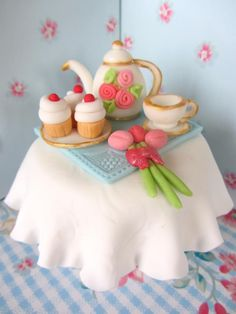 Afternoon Tea Cupcake Topper - For all your cake decorating supplies, please visit craftcompany.co.uk