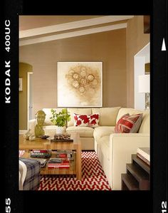 loving this wall color for the living room