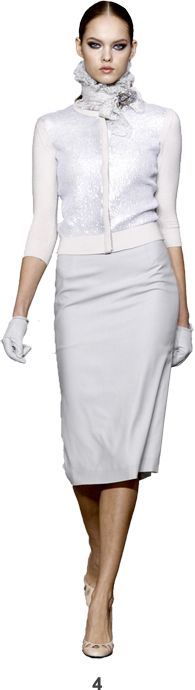 L'Wren Scott TuxedoTerrace Models.  Fantastic Accessory - Gloves.