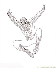 Spiderman Coloring Pages See More How To Draw Web Pattern