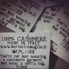 Ours cashmere labels.