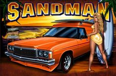 """The panel vans would back into the parking bay at the drive-in and everybody knew that """"when the wagons a-rockin' don't come knockin'""""! Australian Muscle Cars, Aussie Muscle Cars, Holden Australia, Wagon Cars, Custom Vans, Drag Cars, Ford Gt, Car Pictures, Car Pics"""