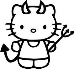 Hello Kitty Devil Pitchfork sticker decal | Truck ...