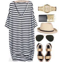 """Golden&Black&White"" by nik-nik-nika on Polyvore"