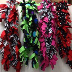 Fringed Fleece Scarves