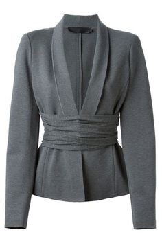 The Belted BlazerIf you feel like your shape gets lost in the trendy, oversized blazers that have been popping up left and right, opt for one that has a built-in waist-accentuating detail. This is Kardashian-approved, if you ask us.Donna Karan Cross Drape Jersey Blazer, $1,427.75 $856.65, available at Farfetch. #refinery29 http://www.refinery29.com/blazer-trends#slide-3