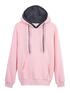 Sale 26% (22.58$) - Casual Velvet Hood Drawstring Women Pocket Sweatshirt