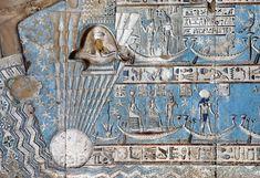 Ceiling at Hathor temple, Dendera, Egypt