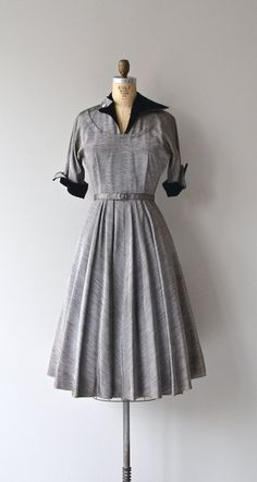 Orbit City dress vintage 50s dress faille 1950s